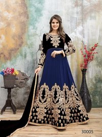 Faux Georgette Embroidered Suit