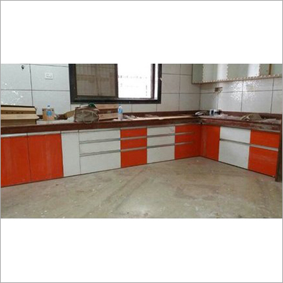 L Shape Wooden Kitchen