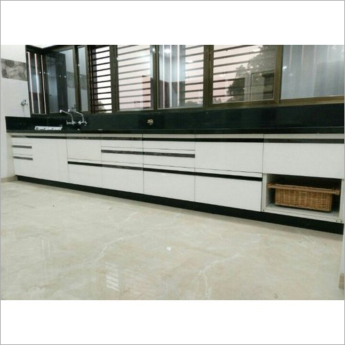 Modular Straight Wooden Kitchen