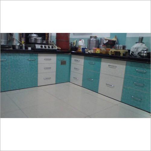 L Shape Designer Modular Kitchen