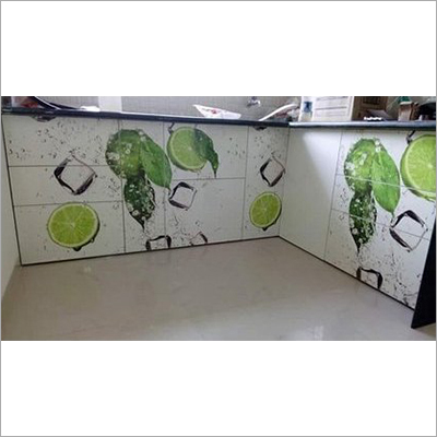 Fruit Printed Wooden Kitchen