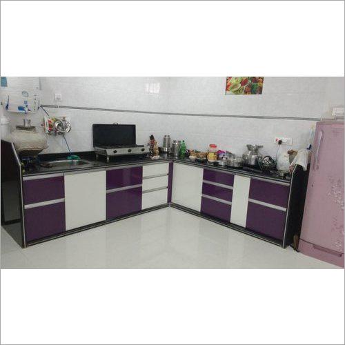 L Shape Modular Wooden Kitchen