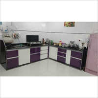 L Shape Modular Wooden Kitchen