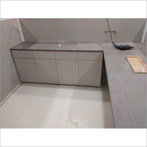 L Shape Plain Wooden Kitchen