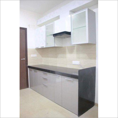 Straight Modular Wooden Kitchen