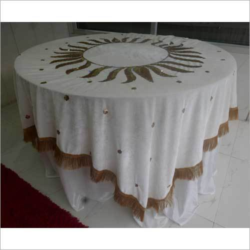 Embroidered Wedding Table Cover