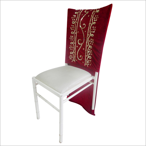 Embroidered Wedding Chair Cover