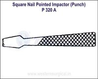 SQUARE Nail Pointed Impactor (Punch)