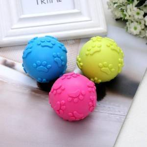 Pet doy Pet environmental non-toxic TPR football Good wear-resisting dog toys Pet cleaning teeth ball
