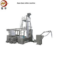 Automatic rope open and slitting machine for tubular fabric