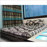 Printed Bed Sheet And Cushion Cover Set