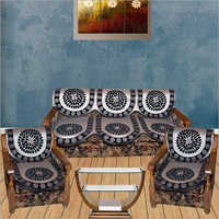 Printed Sofa Cover Set