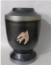 Flying Birds Metal Cremation Urn-Iron