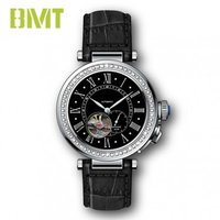 Vt-s19614m Luxury Vintage Genuine Leather Strap Steel Women Mechanical Automatic Watch
