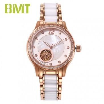 Vt-ss3693 High End Steel Ceramic Bracelet Mechanical Women Watch