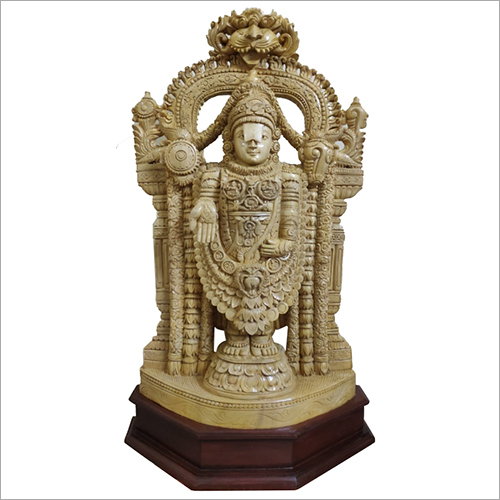 Wooden Lord Balaji Idol