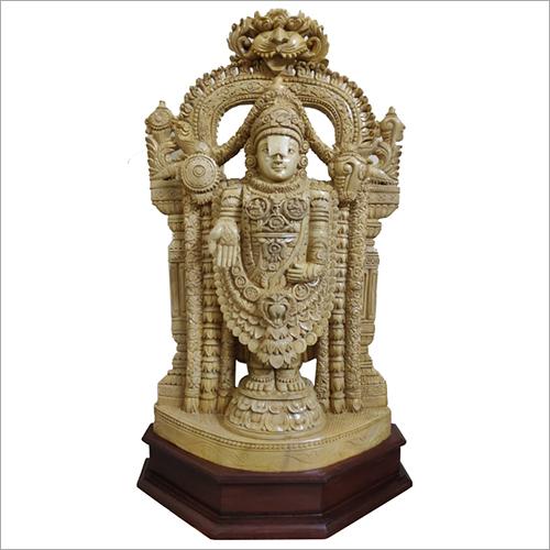 Wooden Lord Balaji Idol