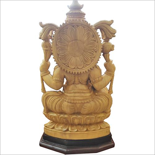 Wooden Lord Ganesh Idol