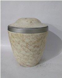 Iron White Adult Cremation Urn