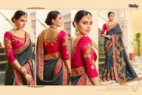 Emboidered Silk Saree