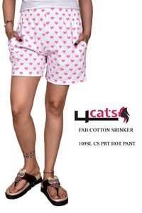 Cotton Sinker Printed Hot Pant