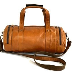 Duffle Leather Gym Bag