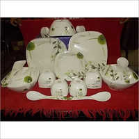 Melamine Square Round Dinner Set