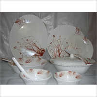 Melamine Opal Dinner Set White Color
