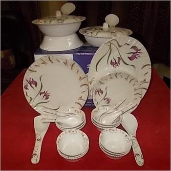 Floral Design Melamine Opal Dinner Set
