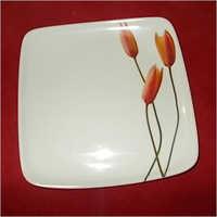 Melamine Square Dinner Plate White Color