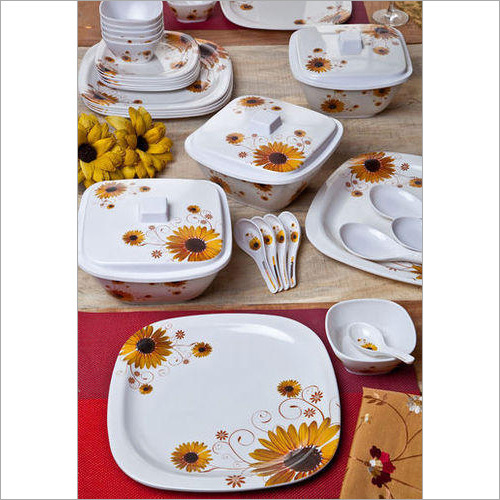 Melamine Round Square Dinner Set