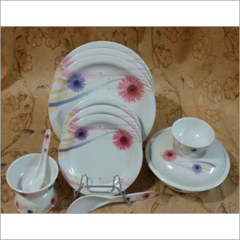 Melamine Round Dinner Set White Color
