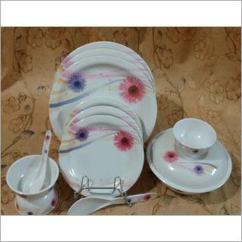 Melamine Round Dinner Set White Color