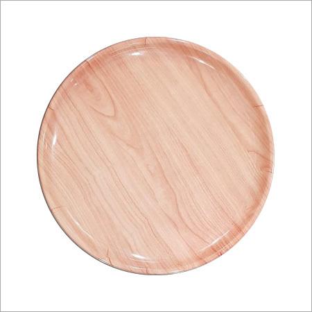Wooden Finish Melamine Dinner Plate
