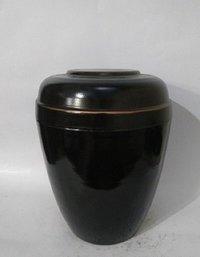 Metal Iron Urn -Black