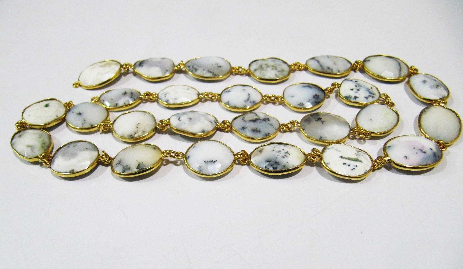 Natural Dendrite Opal Free Shape Chain