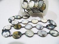 Natural Dendrite Opal Free Shape Chain