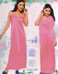 single nighty satin febrik
