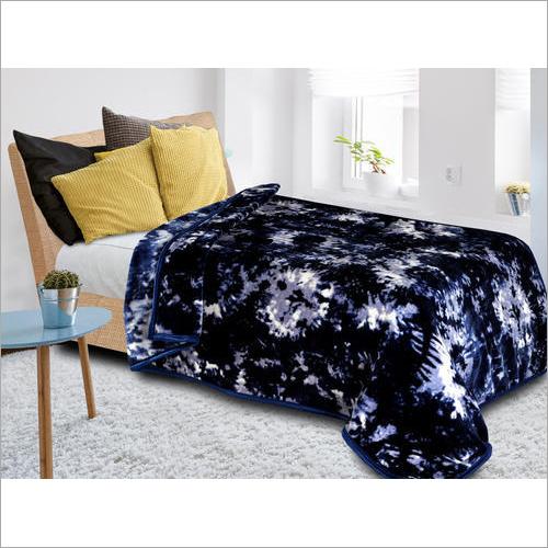 Indigo Print Mink Blanket