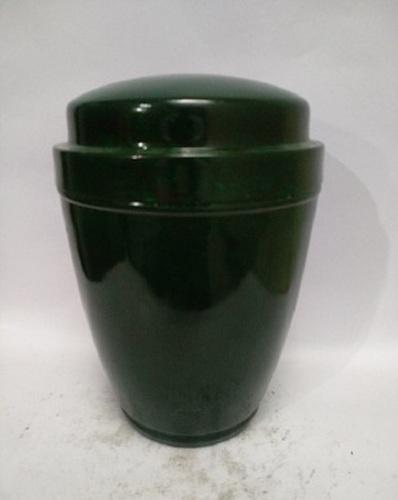 Deep Green Metal Iron Urn