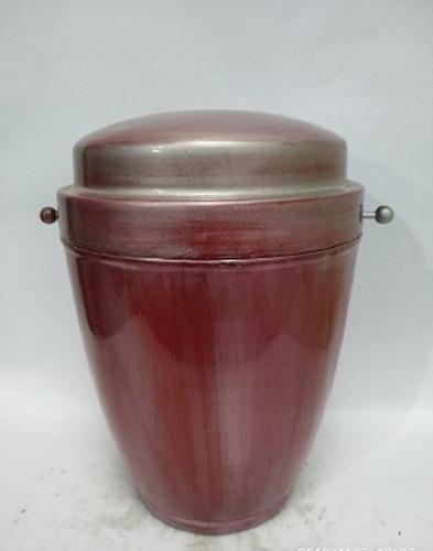 Red Metal Iron Urn
