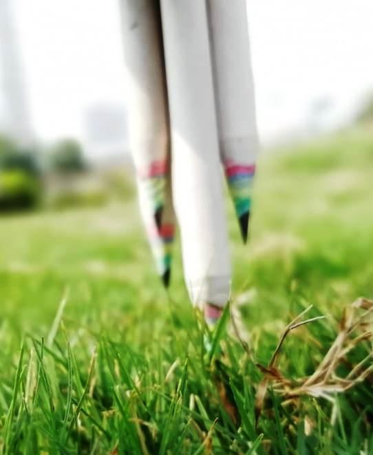 Recycled rainbow pencil