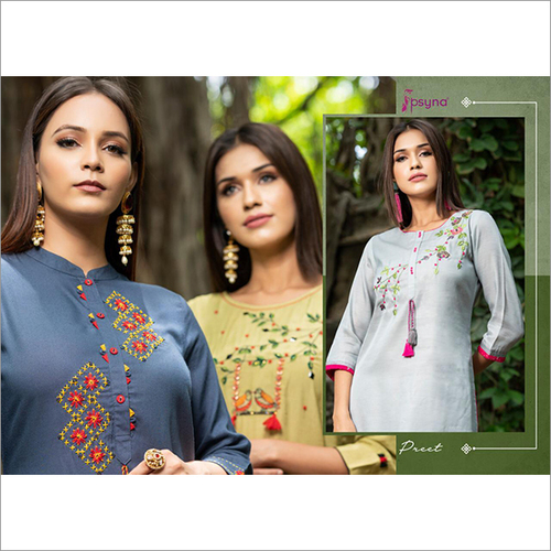 Ladies Kurtis (Psyna) Preet Catalog