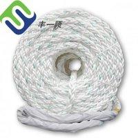 High Strength White Nylon 8 Strand Braided Rope For Marine