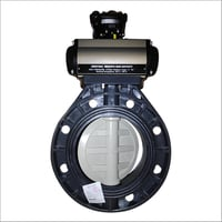 Pneumatic Actuator With UPVC Butterfly Valve