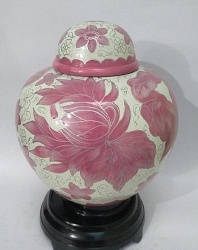 New Arrival Flower Cloisonne Cremation Urn- Pink