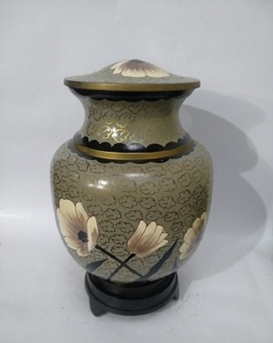 Hand Painted Cloisonne Urn