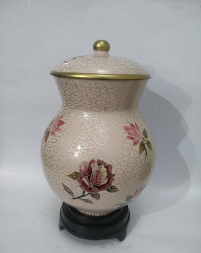 Manufacturer of Dusty Rose Cloisonne Urn