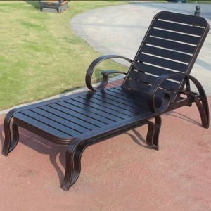 High Quality Cast Aluminum Frame Outdoor Chaise Lounge Chair