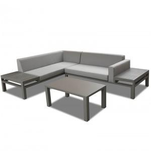 Project Custom Aluminum Frame Outdoor Corner Sofa Sets
